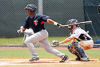 Wander Guillen (81) Infielder for the GCL Twins during a game against the GCL Rays on July 16th, 2010 at Charlotte Sports Park in Port Charlotte Florida. The GCL Twins are the the Gulf Coast Rookie League affiliate of the Minnesota Twins. Photo by: Mark LoMoglio/Four Seam Images