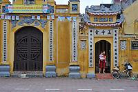 Ornate buildings in the city centre of Hanoi, Vietnam