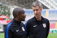San Jose, Costa Rica - November 14, 2016: The U.S. Men's National team prepare for their Hexagonal World Cup World Cup Qualifying game vs Costa Rica at Estadio Nacional de Costa Rica.