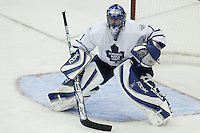 20 October 2006: Toronto Maple Leafs' Andrew Raycroft plays against the Columbus Blue Jackets at Nationwide Arena in Columbus, Ohio.<br />