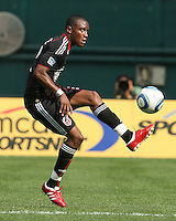 Rodney Wallace #22 of D.C. United  during an MLS match against the New York Red Bulls on May 1 2010, at RFK Stadium in Washington D.C.