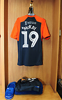 A General View of the away dressing room, with Swansea City's Barrie McKay's kit placed out prior to the Sky Bet Championship match between Sheffield United and Swansea City at Bramall Lane, Sheffield, England, UK. Saturday 04 August 2018