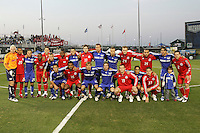 Kansas City Wizrads and Toronto FC starting lineups. Toronto FC defeated Kansas City Wizards 3-2 at Community America Ballpark, Kansas City, Kansas. March 21, 2009.