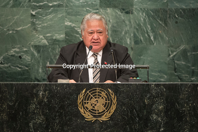 Samoa<br /> H.E. Mr. Tuilaepa Sailele Malielegaoi<br /> Prime Minister<br /> <br /> General Assembly Seventy-first session, 17th plenary meeting<br /> General Debate