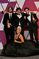 LOS ANGELES, CA. February 24, 2019: Mark Ronson, Lady Gaga, Anthony Rossomando &amp; Andrew Wyatt at the 91st Academy Awards at the Dolby Theatre.<br /> Picture: Paul Smith/Featureflash