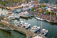 1991 June ..Redevelopment.Downtown South (R-9)..HELICOPTER.LOW ANGLE.HARBORFEST.WATERSIDE MARINA...NEG#.NRHA#..