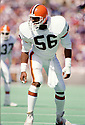 Cleveland Browns Chips Banks(19) during a game from his 1986 season with the Cleveland Browns. Chips Banks played for 10 seasons for 3 different teams and was a 4-time Pro Bowler.(SPORTPICS)