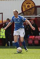 Derek Riordan in the Motherwell v St Johnstone Clydesdale Bank Scottish Premier League match played at Fir Park, Motherwell on 28.4.12.