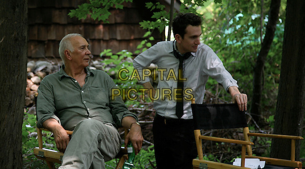 FRANK LANGELLA & director JAKE SCHREIER .on the set of Robot & Frank (2012) .*Filmstill - Editorial Use Only*.CAP/NFS.Supplied by Capital Pictures.