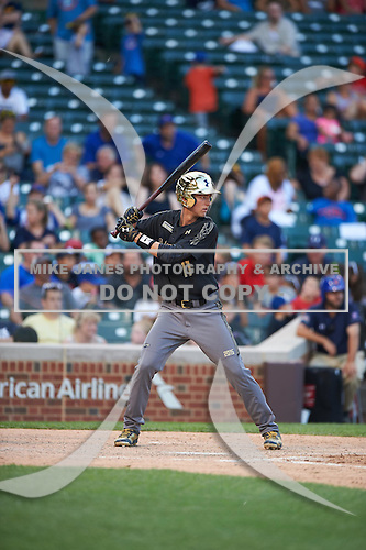 Grae Kessinger (11) of Oxford High School in Oxford, Mississippi during the Under Armour All-American Game on August 15, 2015 at Wrigley Field in Chicago, Illinois. (Mike Janes/Four Seam Images)