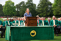 Jennifer Kupcho (USA) speaking after the final  round at the Augusta National Womans Amateur 2019, Augusta National, Augusta, Georgia, USA. 06/04/2019.<br /> Picture Fran Caffrey / Golffile.ie<br /> <br /> All photo usage must carry mandatory copyright credit (© Golffile | Fran Caffrey)