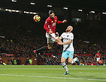 Zlatan Ibrahimovic of Manchester United scores the equalising goal during the Premier League match at the Old Trafford Stadium, Manchester. Picture date: November 27th, 2016. Pic Simon Bellis/Sportimage