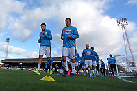 Sutton players warm up during Cambridge United vs Sutton United , Emirates FA Cup Football at the Cambs Glass Stadium on 5th November 2017