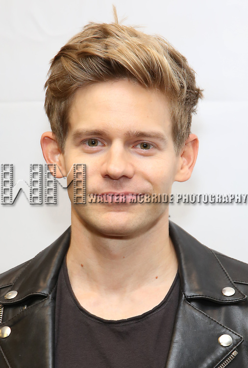 """Andrew Keenan-Bolger attends the cast photo call for """"Laramie: A Legacy""""  on September 24, 2018 at The Gerald W. Lynch Theater at John Jay College in New York City."""
