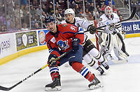 HERSHEY, PA - DECEMBER 01: Springfield Thunderbirds forward Patrick Bajkov (91) skates into the corner during the Springfield Thunderbirds at Hershey Bears on December 1, 2018 at the Giant Center in Hershey, PA. (Photo by Randy Litzinger/Icon Sportswire)