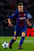 5th December 2017, Camp Nou, Barcelona, Spain; UEFA Champions League football, FC Barcelona versus Sporting Lisbon; Denis Suarez of FC Barcelona passes the ball
