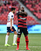 9th February 2019, Spotless Stadium, Sydney, Australia; A League football, Western Sydney Wanderers versus Central Coast Mariners; Roly Bonevacia of the Western Sydney Wanderers misses a chance to score