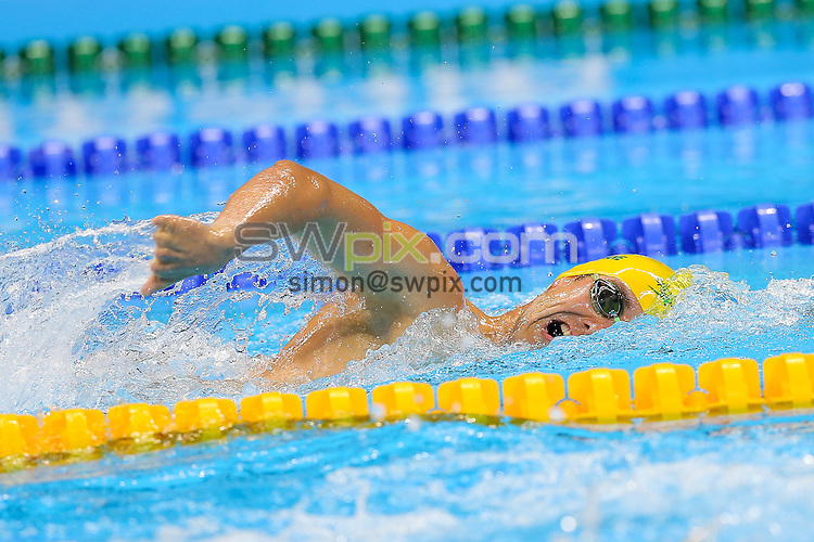 Picture by Rogan Thomson/SWpix.com - 08/09/2016 - 2016 Rio Paralympic Games - Swimming - Olympic Aquatics Centre, Rio de Janeiro, Brazil - Blake Cochrane of Australia competes in the Men's 400m Freestyle S8 Heat 2.
