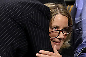 WASHINGTON, DC - SEPTEMBER 27:  Christine Blasey Ford is embraced by her attorney Debra Katz at the conclusion of her testimony before the Senate Judiciary Committee in the Dirksen Senate Office Building on Capitol Hill September 27, 2018 in Washington, DC. A professor at Palo Alto University and a research psychologist at the Stanford University School of Medicine, Ford has accused Supreme Court nominee Judge Brett Kavanaugh of sexually assaulting her during a party in 1982 when they were high school students in suburban Maryland.  (Photo by Win McNamee/Getty Images)