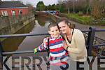 Ten year old Derek O'Shea and his mother Liz O'Brien who were rescued from the River Lee near the CBS Primary school in Tralee.
