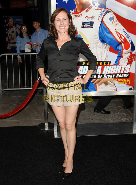"MOLLY SHANNON.World Premiere of ""Talladega Nights:The Ballad of Ricky Bobby"" held at The Grauman's Chinese Theatre in Hollywood, California, USA..July 26th, 2006.Ref: DVS.full length black shirt beige shorts hands on hips.www.capitalpictures.com.sales@capitalpictures.com.©Debbie VanStory/Capital Pictures"