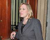 Washington, D.C. - December 22, 2009 -- United States Senator Kirsten E. Gillibrand (Democrat of New York) departs U.S. Capitol after attending the Senate Democratic Party Caucus Luncheon on Tuesday, December 22, 2009.Credit: Ron Sachs / CNP.(RESTRICTION: NO New York or New Jersey Newspapers or newspapers within a 75 mile radius of New York City)