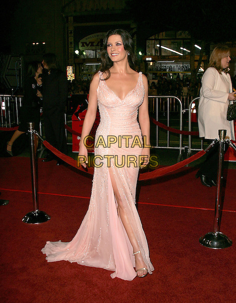 "CATHERINE ZETA-JONES.The Warner Brothers' World Premiere of ""Ocean's Twelve"" held at The Grauman's Chinese Theatre in Hollywood, California .December 8th,2 004.full length, light pink dress, slit, split, jewel encrusted.www.capitalpictures.com.sales@capitalpictures.com.Supplied By Capital PIctures"