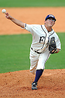 2 May 2010:  FIU's Eric Berkowitz (2) pitches late in the game as the University of Louisiana-Monroe Warhawks defeated the FIU Golden Panthers, 8-7 in 11 innings, at University Park Stadium in Miami, Florida.