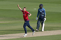 Jamie Porter of Essex celebrates taking the wicket of Heino Kuhn during Essex Eagles vs Kent Spitfires, Royal London One-Day Cup Cricket at The Cloudfm County Ground on 6th June 2018