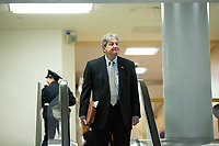 United States Senator John Kennedy (Republican of Louisiana) walks through the Senate Subway during a cloture vote on a Coronavirus Stimulus Package at the United States Capitol in Washington D.C., U.S., on Monday, March 23, 2020.  Credit: Stefani Reynolds / CNP/AdMedia