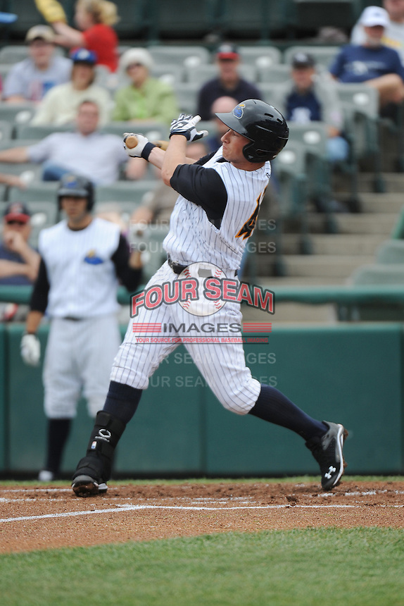 Trenton Thunder outfielder Slade Heathcott (47) during game against the Erie Sea Wolves at ARM & HAMMER Park on May 15, 2014 in Trenton, NJ.  Erie defeated Trenton 4-2.  (Tomasso DeRosa/Four Seam Images)