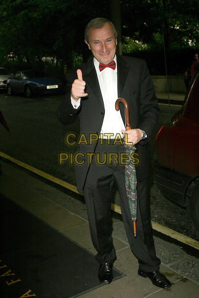 JIM ROZENTHAL.Attending the RTS Television Sports Awards 2006,.The Savoy, The Strand, London, England,.May 29th 2007..full length red bow tie  thumb up black suit umbrella.CAP/AH.©Adam Houghton/Capital Pictures.
