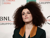 "La cantante ed attrice italiana Marianne Mirage posa durante un photocall per la presentazione del film ""The place"" alla Festa del Cinema di Roma, 4 novembre 2017.<br /> Italian singer and actress Marianne Mirage poses for a photocall to present the movie ""The place"" during the international Rome Film Festival at Rome's Auditorium, .<br /> UPDATE IMAGES PRESS/Isabella Bonotto"