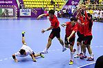 €/Hiroki Motoki (JPN), <br /> AUGUST 17, 2018 - Handball : Men's Preliminary Round match between <br /> Korea 26-26 Japan at GOR Popki Cibubur during the 2018 Jakarta Palembang Asian Games in Jakarta, Indonesia. <br /> (Photo by MATSUO.K/AFLO SPORT)