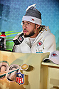 Kansas City Chiefs Strong safety Tyrann Mathieu (#32) answers questions from the media during the NFL Super Bowl ( LIV)(54) Opening Night at Marlins Park on January 27, 2020  in Miami, Florida. ( Photo by Johnny Louis / jlnphotography.com )
