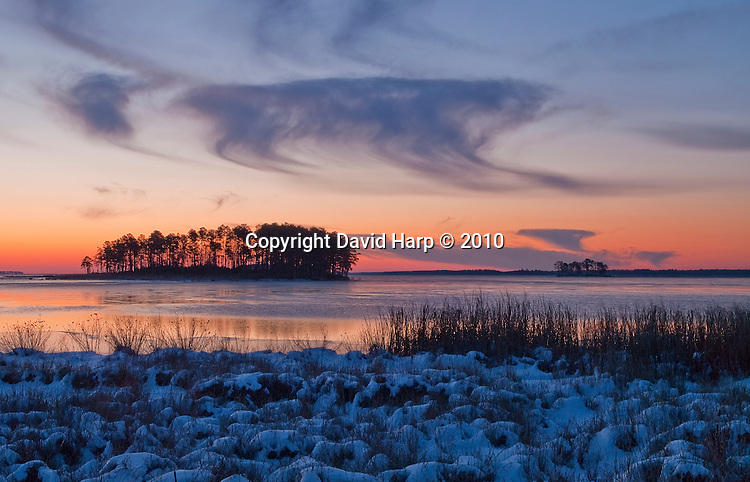 Spriggs Island in the Blackwater River on the Winter Solstice