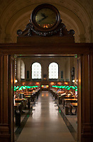 Bates Hall reading room in Boston Public Library at Copley Square Boston MA