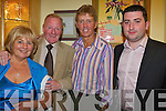 Michael 'Fox' O'Connor with his wife Joan and son Ross alongside showband star Dickie Rock before he performed at Michael's 60th birthday party in The Brandon Hotel on Saturday night..   Copyright Kerry's Eye 2008