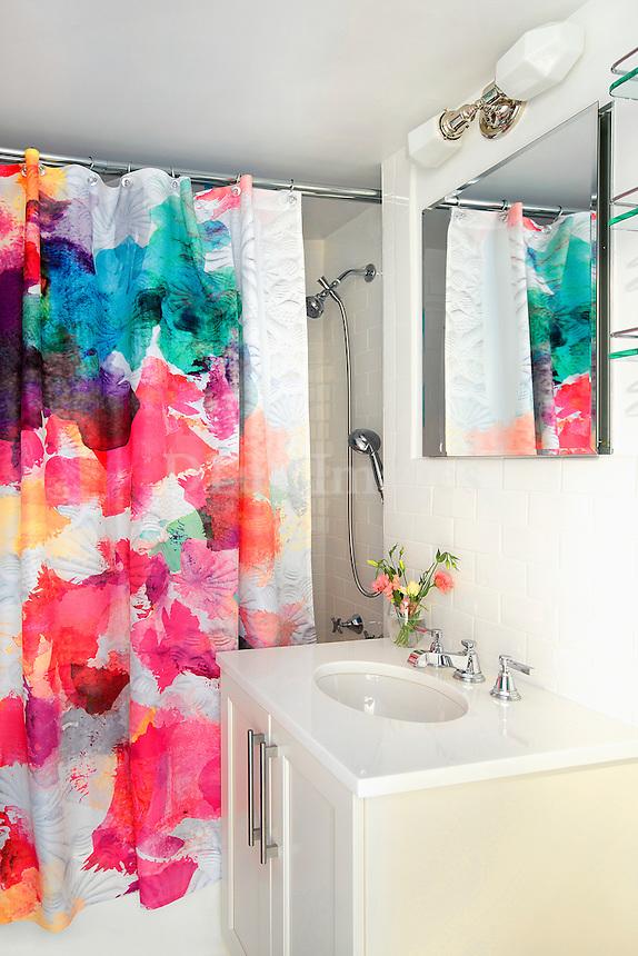Colourfull shower curtain