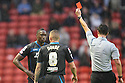 Lucas Akins of Stevenage is sent off by referee Andrew Madley<br />  - Walsall v Stevenage - Sky Bet League One - Banks's Stadium, Walsall - 19th October 2013. <br /> © Kevin Coleman 2013