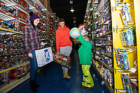 Pictured: Joe Rodon of Swansea City buying children gifts at Smyth's Toy Store, in Swansea, Wales, UK. Wednesday 19 December 2018