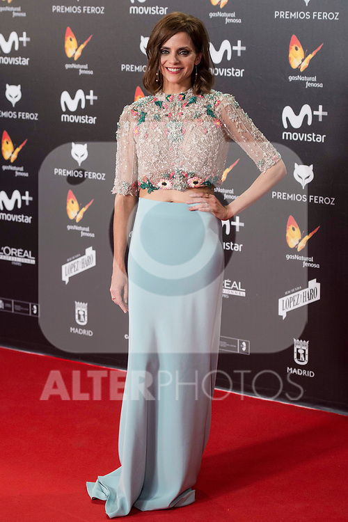 Macarena Gomez attends red carpet of Feroz Awards 2018 at Magarinos Complex in Madrid, Spain. January 22, 2018. (ALTERPHOTOS/Borja B.Hojas)
