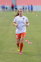 Houston, TX - Sunday June 19, 2016: Allysha Chapman prior to a regular season National Women's Soccer League (NWSL) match between the Houston Dash and FC Kansas City at BBVA Compass Stadium.