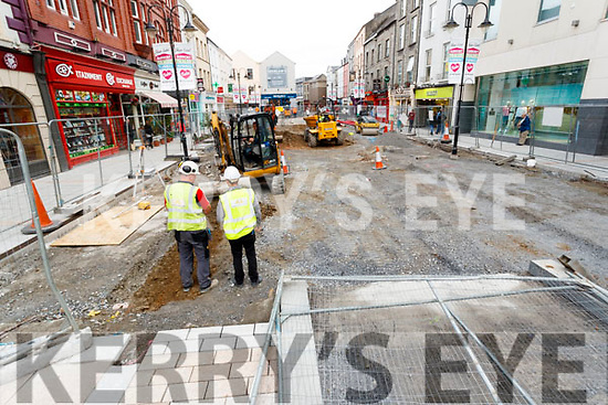Roadworks in Tralee on Tuesday.