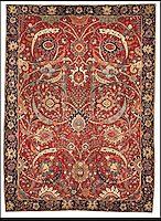 BNPS.co.uk (01202) 558833<br /> Picture: CorcoranGallery/BNPS<br /> <br /> **please byline**<br /> <br /> An ancient Persian rug has floored the art world after selling for a whopping &pound;21.8million - more than three times the world carpet record. The exquisite handwoven carpet is over 360 years old and measures 8ft 9ins by 6ft 5ins and was tipped to fetch five million at the New York auction, but stunned experts when the hammer fell at more than four times the estimate. The equivalent money would buy a luxury six-bed pad in Regent's Park, London, or a plush 17-acre estate in The Hamptons, New York, plus a similar sized Ikea oriental rug for &pound;975. Four bidders fought for more than 10 minutes to get their hands on the antique rug, which was sold by Corcoran Gallery of Art. The winning bid was placed by a private telephone bidder at the Sotheby's auction in New York.