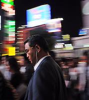 A businessman in Shibuya, Tokyo, Japan..03 Sep 2008