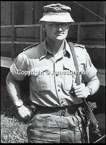 BNPS.co.uk (01202 558833)Pic: JamesDorrian/BNPS<br /> <br /> Corran Purdon as C/O of the 1st Royal Ulster Rifles in Sarawak in the 1960's.<br /> <br /> One of the last hero's of the 'Greatest Raid of All' - the British operation to blow up the Nazi dry dock at St Nazaire - has died.<br /> <br /> Major General Corran Purdon played a leading role in the audacious World War Two mission in which a ship full of explosives was rammed into the heavily-defended dock gates at the French port.<br /> <br /> After the collision about 100 commandos, including Maj Gen Purdon, poured off the crashed ship and stormed and destroyed numerous dockside buildings.<br /> <br /> The war veteran passed away at his home in Devizes, Wilts, aged 97.