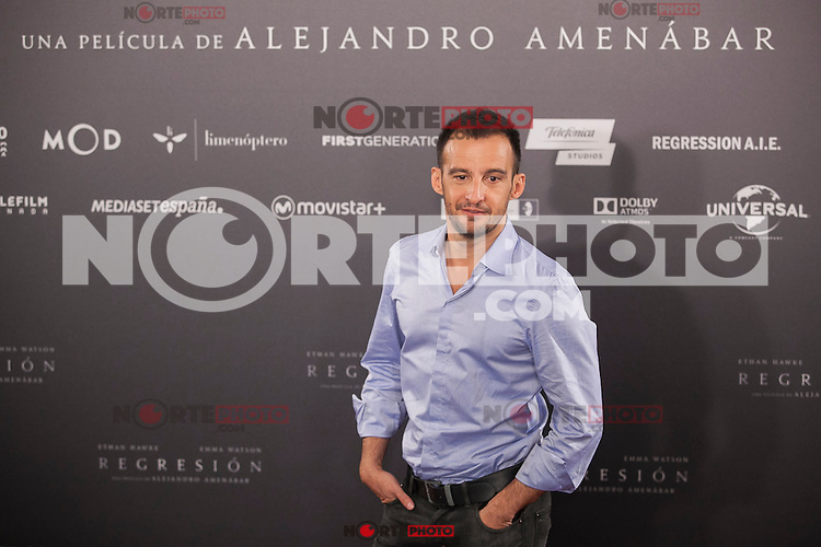 Spanish film director Alejandro Amenabar poses during the `Regresion´ (Regression) film presentation in Madrid, Spain. August 27, 2015. (ALTERPHOTOS/Victor Blanco)
