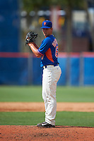 GCL Mets pitcher Jordan Humphreys (67) gets ready to deliver a pitch the first game of a doubleheader against the GCL Marlins on July 24, 2015 at the St. Lucie Sports Complex in St. Lucie, Florida.  GCL Marlins defeated the GCL Mets 5-4.  (Mike Janes/Four Seam Images)