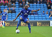 30th September 2017, Cardiff City Stadium, Cardiff, Wales; EFL Championship football, Cardiff City versus Derby County; Sol Bamba of Cardiff City controls the ball